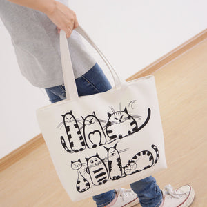 Family Cat Canvas Bag