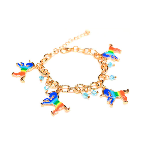 Rainbow Charms Unicorn Bracelet