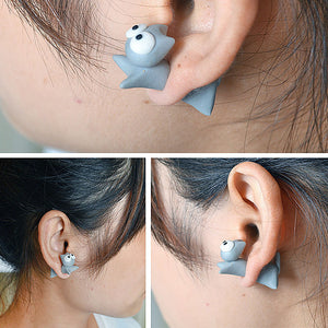 Cute Eyes Cat Earrings