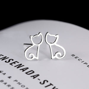 Minimalist Cat Earrings