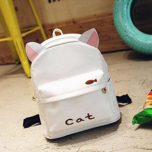 Pink Ears Cat Backpack