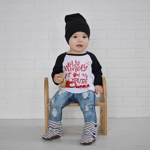 Valentine Outfit for toddler - apple of my eye raglan