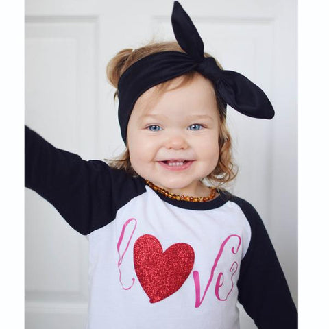 toddler girl valentine outfit - love shirt