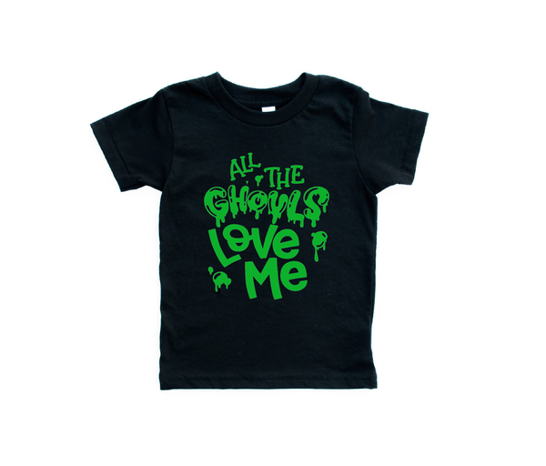 All The Ghouls Love Me Boys Halloween Shirt - Black Tee