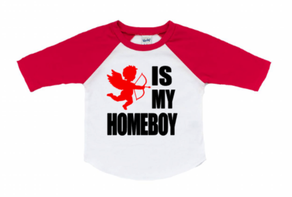 Valentines Outfit for Baby Boy - Cupid is my homeboy
