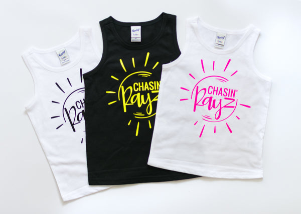 toddler tank top, baby tank top, chasin rayz, summer sun shirt, summer clothes for boys