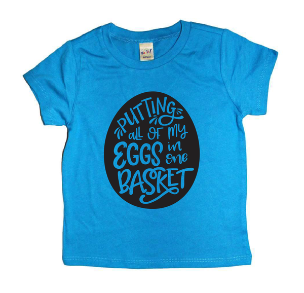 Eggs in basket Tee - kids Easter t-shirt