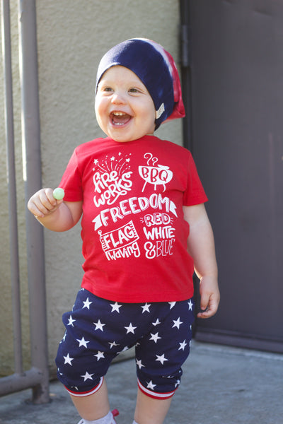 Gender neutral 4th of July kids shirt