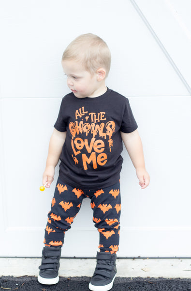 All the ghouls love me - boys Halloween shirt