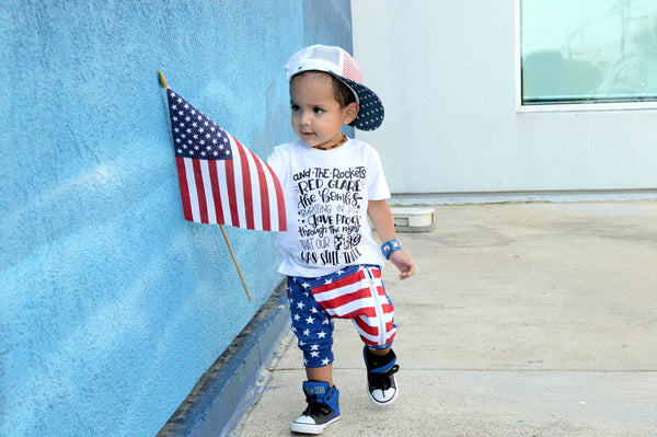 4th of July shirt for kids - Star spangled banner
