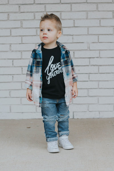 Love yourself - monochrome toddler t shirt
