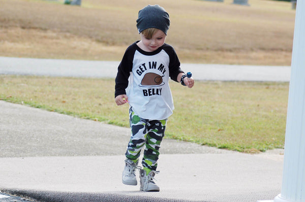 Boy Thanksgiving Outfit - Get in My Belly Turkey Shirt