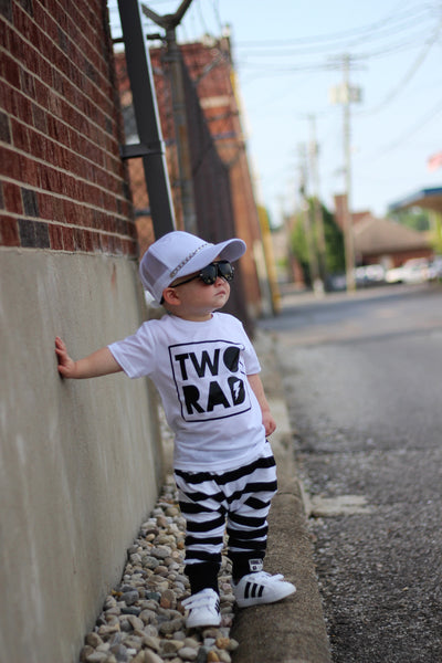 Two rad, second birthday shirt, two shirt, 2nd birthday tee, birthday outfit