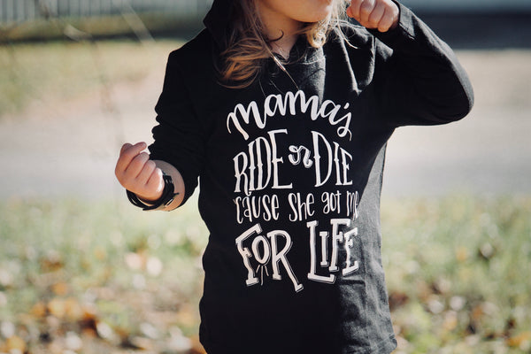 Mama's ride or die toddler long sleeve shirt
