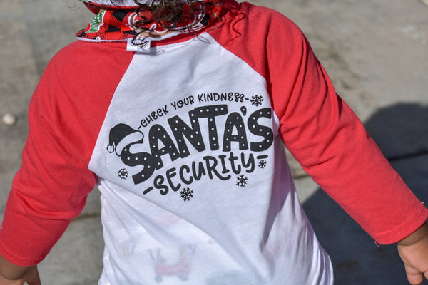 Santa security - kids Santa shirt