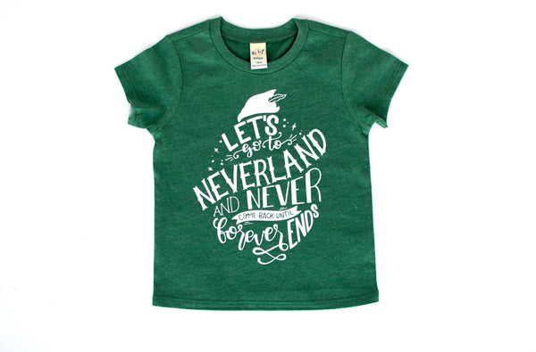Neverland shirt for kids, Disney Peter Pan tee