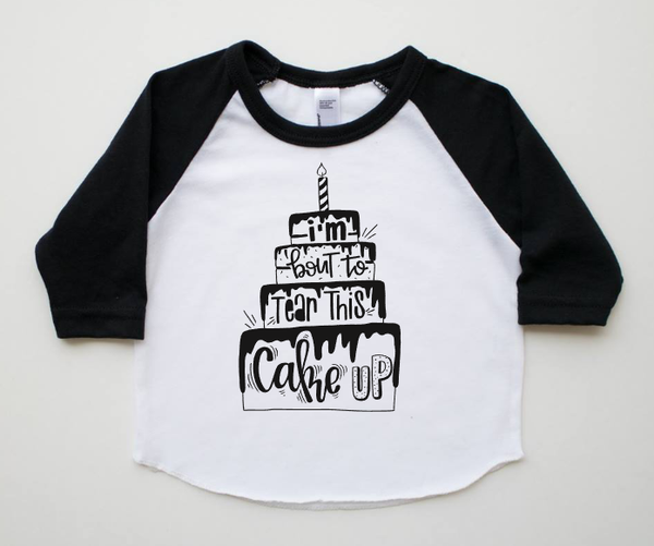 Tear this cake up, birthday cake shirt, cake smash outfit, first  birthday cake shirt