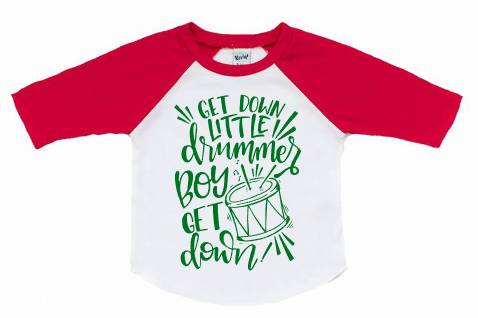 Christmas Raglan Shirt - Red & Green