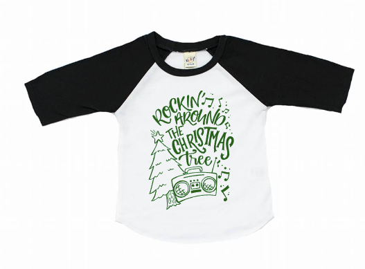 Rocking around the Christmas Tree -Kids Christmas shirt