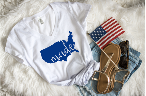 American made women's 4th of july shirt