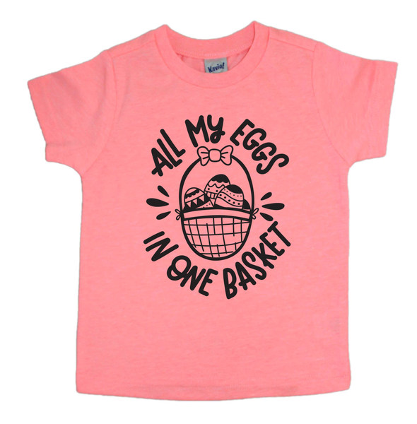 Easter shirt for kids - all my eggs in one basket