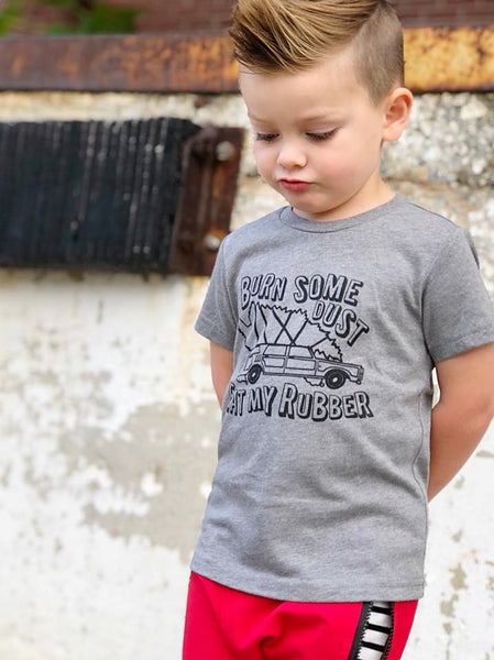 Christmas vacation shirt for kids - Burn some dust eat my rubber