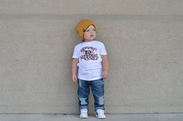 e0244972c Mommy's little butterball thanksgiving shirt for kids. – Our 5 Loves