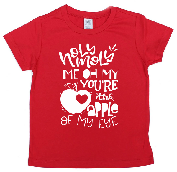Apple of my eye - kids valentine's day shirt