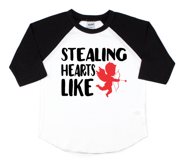 Stealing hearts like cupid tee - cupid valentines day tee