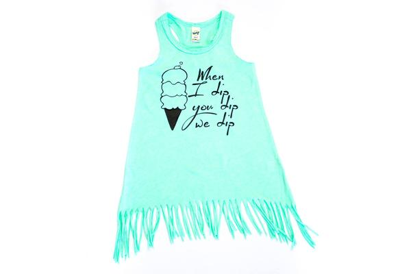 When I Dip You Dip we dip - ice cream tee for kids