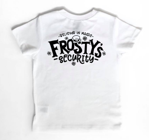 Frosty security - frosty Christmas shirt for kids