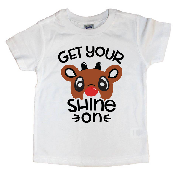 Get your shine on - Rudolph Chritmas tee