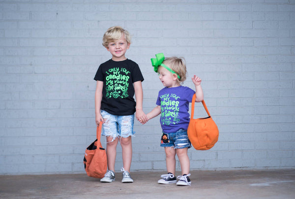 Candy themed Halloween Shirts for Kids