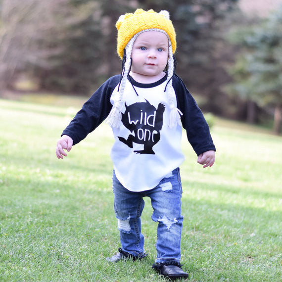 wild one baby shirt - where the wild things are