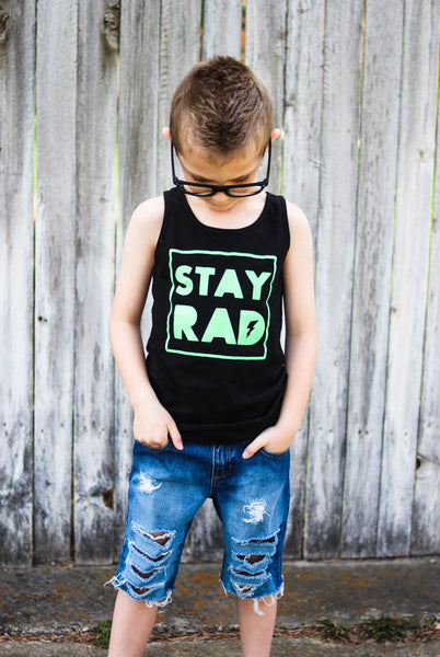 Stay Rad tank top - summer tank for kids