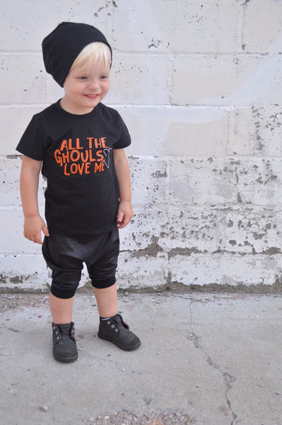 All the Ghouls Love Me Cute Ghost Shirt for Boy