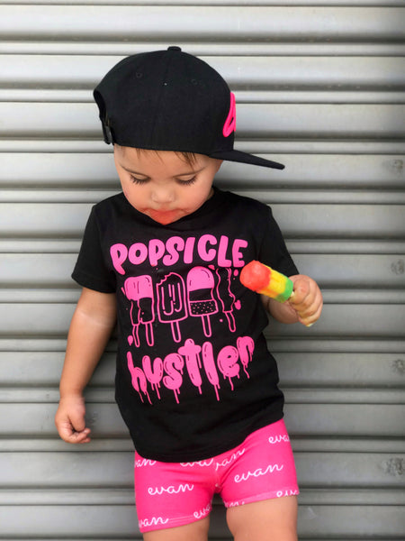 Popsicle Hustle T-Shirt - Black/Pink