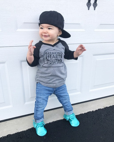 Breaking hearts in my snapback - cute baby boy clothes