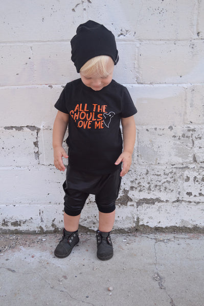 Cute Ghost Shirt for Boy - Black Color