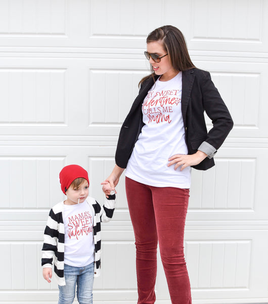 Mama and me valentines day shirts - matching vday set