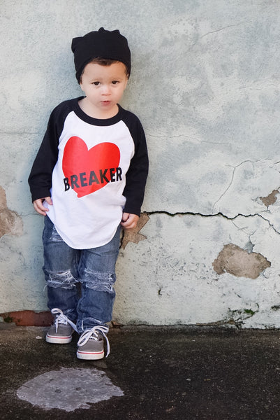 Heartbreaker valentine's raglan for boys