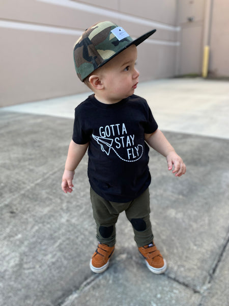 Gotta stay fly toddler tee - trendy kids clothes