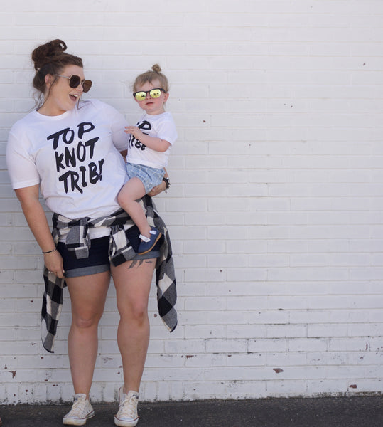Top knot tribe - top knot shirt for moms and girls