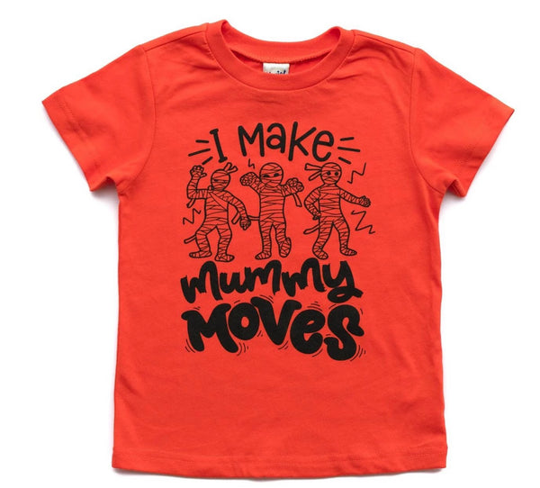 I make mummy moves, funny kids halloween shirt