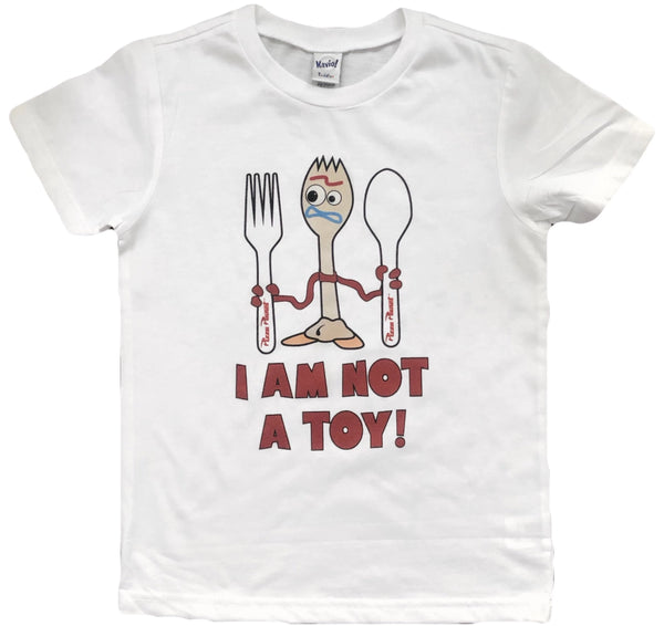 I am not a toy - forky toy story kids tee