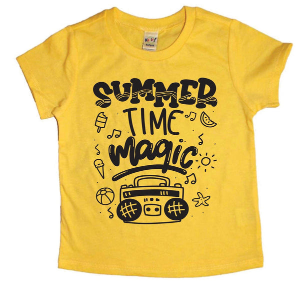 Summertime magic - retro boombox tee