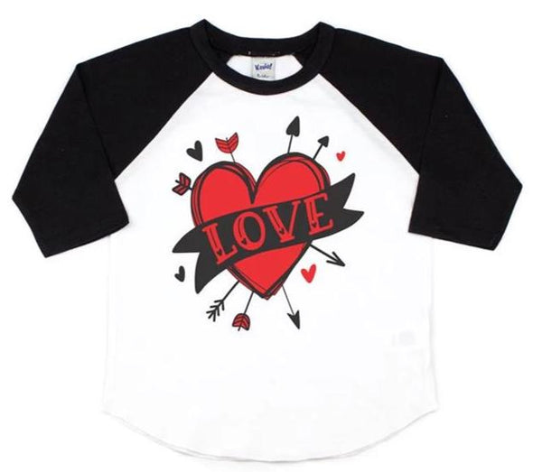 LOVE - VALENTINE'S DAY SHIRT FOR KIDS
