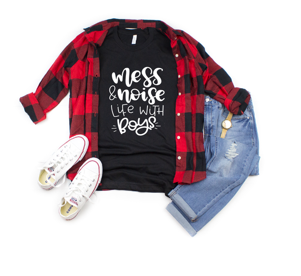 mess and noise life with boys - boy mama shirt