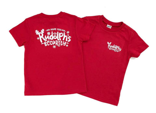 Rudolph security - kids Rudolph Christmas shirt