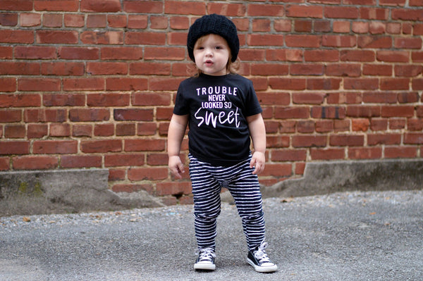 Trouble never looked so sweet- trouble maker shirt